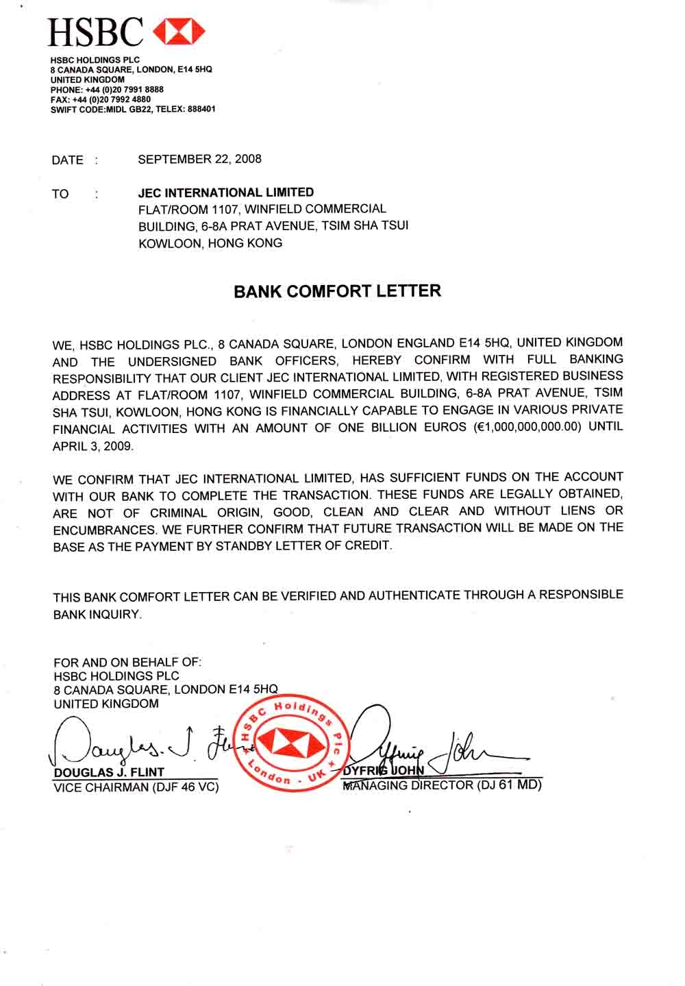 Bcl bank confirmation letter sample bcl bank confirmation letter bank confirmation letter bcl bank comfort letter bcl commonly referred to as a bcl is typically used in a commodities transaction to a3 output sample spiritdancerdesigns Image collections
